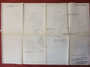 COSWORTH DFX INDY CAR ENGINE 1980 original plan blueprint exhaust manifold